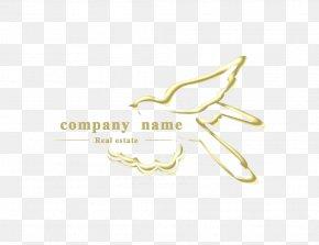 Golden Swallow Silhouette Logo - Logo Brand Font PNG