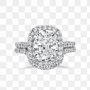 14K White Gold 1 2 Carat Diamond Ring - Wedding Ring Engagement Ring Jewellery PNG