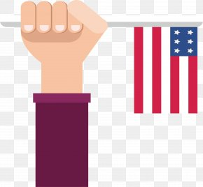Holding The American Flag In His Hand - Flag Of The United States National Flag PNG