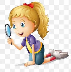 Holding A Magnifying Glass - Magnifying Glass Drawing Clip Art PNG