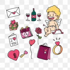 Vector Cupid - Valentines Day Euclidean Vector PNG