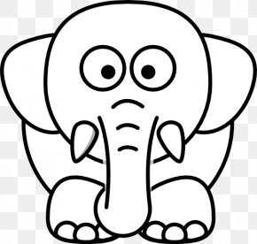 White Elephant Transparent - Animals Black & White Black And White Clip Art PNG