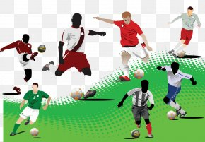 Man Playing Soccer - Campeonato Brasileiro Sxe9rie A Football Player Euclidean Vector Illustration PNG