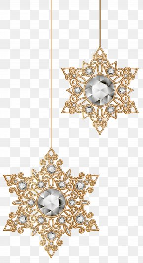 Christmas Snowflakes Ornaments Clip-Art Image - Christmas Ornament Snowflake Clip Art PNG