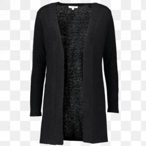 T-shirt - Cardigan Cashmere Wool T-shirt Black Sleeve PNG