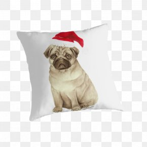 Puppy - Pug Puppy Dog Breed Throw Pillows PNG