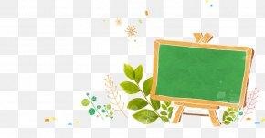 Green Chalkboard - Cartoon Green Illustration PNG