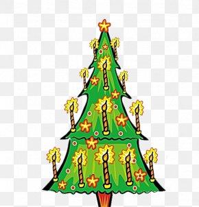 Christmas Tree Candle - Christmas Tree Candle Clip Art PNG