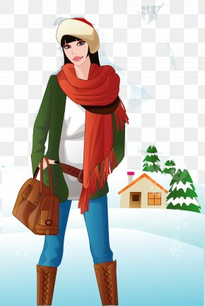 Snow Woman Vector Material - Euclidean Vector Female Winter Woman PNG