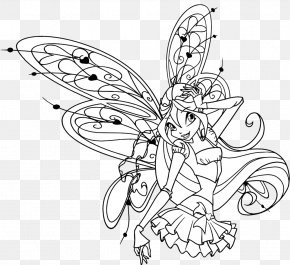 Kleurplaten Winx Club Sirenix.Winx Club Believix In You Bloom Butterfly Line Art Drawing