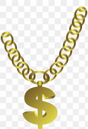 Gold Necklace - T-shirt Gold Chain Necklace PNG