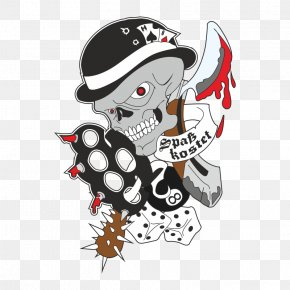 Skull - Sticker Advertising Wall Decal Skull Totenkopf PNG
