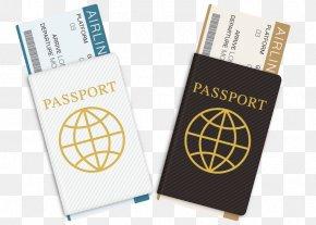 Vector Travel Passport Ticket For Free Download - Passport Download PNG