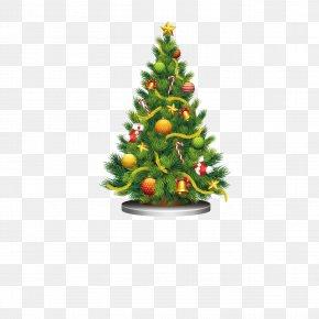 Christmas Tree Vector - Santa Claus Christmas Tree Gift Clip Art PNG