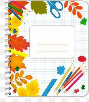 Notebook Cover - Crayon Drawing School Clip Art PNG