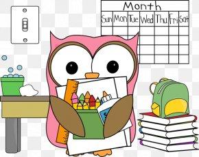Broom Cliparts Classroom - Owl School Classroom Clip Art PNG