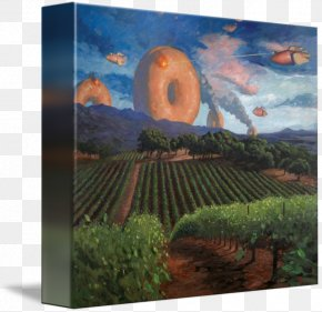 Painting - Robots & Donuts Painting Gallery Wrap Canvas Art PNG