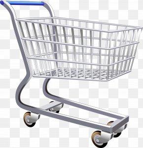 Vector Supermarket Shopping Cart - Shopping Cart Supermarket Clip Art PNG
