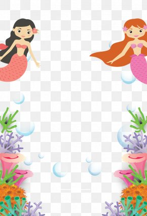 Mermaid Child Birthday Party - Mermaid Clip Art PNG