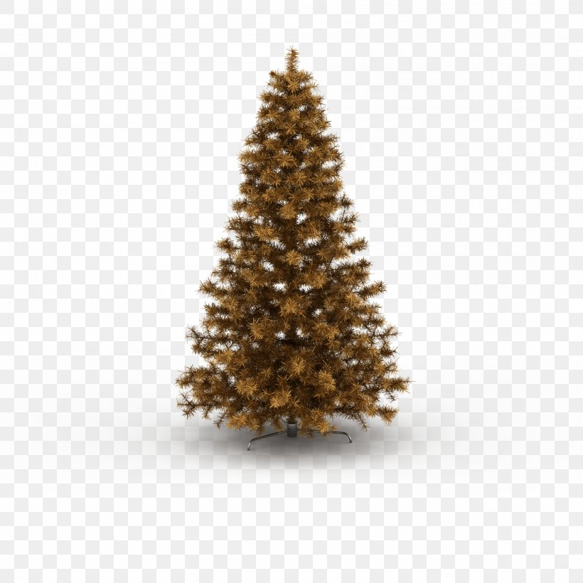 The Golden Christmas Tree, PNG, 2000x2000px, Pine, Christmas, Christmas Decoration, Christmas Ornament, Christmas Tree Download Free