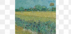 Painting - Van Gogh Museum View Of Arles With Irises In The Foreground The Letters Of Vincent Van Gogh PNG