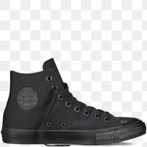 Nike - Chuck Taylor All-Stars Converse CT II Hi Black/ White High-top Shoe PNG