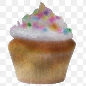 Muffin Baked Goods - Food Cupcake Icing Buttercream Dessert PNG