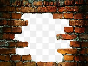 Hole In A Brick Wall - Stone Wall Brick Wall Decal PNG