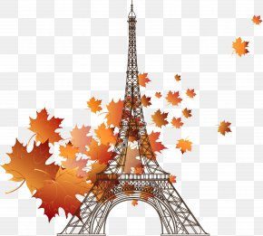Maple Eiffel Tower Illustration - Eiffel Tower Stock Photography PNG