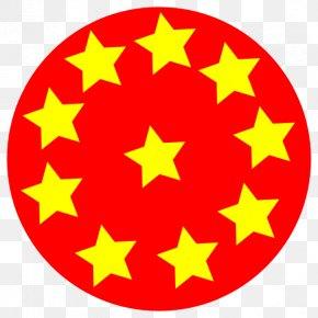 Circle Red Cliparts - Star Circle Clip Art PNG