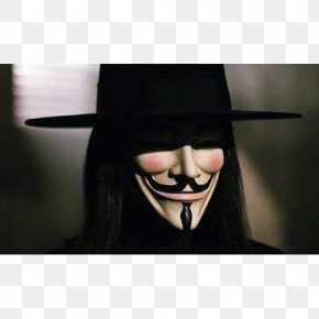 Mask - V For Vendetta Guy Fawkes Mask Costume PNG