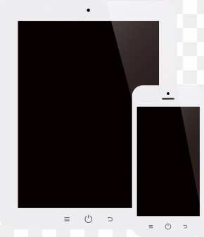 Vector Painted Tablet Phone - Smartphone Feature Phone Mobile Device Multimedia PNG