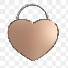 Heart Gold - Love Lock Heart Huangshan PNG