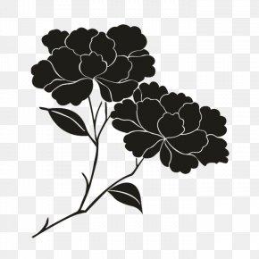 Oakleaf Hydrangea - Petal Black Floral Design Pattern PNG