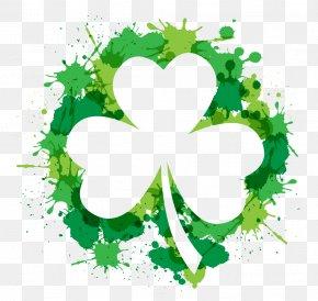 Ink Clover - Shamrock Saint Patricks Day Free Content Clip Art PNG