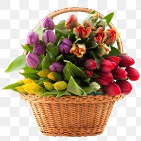 Bouquet Flowers - Flower Delivery Basket Floristry Rose PNG