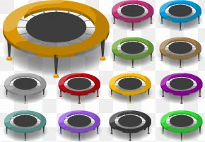 Vector Trampoline - Trampoline Jumping Trampolining Icon PNG