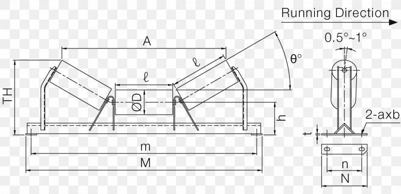 Idler-wheel Conveyor Belt Conveyor System Technical Drawing Paper, PNG, 1458x706px, Idlerwheel, Area, Artwork, Belt, Black And White Download Free