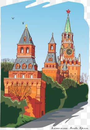 European Castle - Moscow Kremlin Cathedral Of Christ The Saviour Saint Basils Cathedral Kremlin Senate Kizhi Pogost PNG