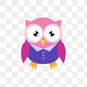 Pink Owl - Owl Download Icon PNG