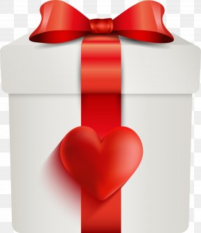 Red Love Gift Box - Red Gift Box PNG