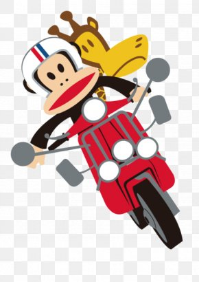 Motorbike Mouth Monkey - Monkey Graphic Design PNG