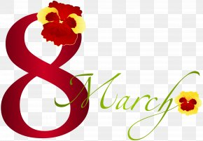 March 8 With Pansies Clipart Image - Australia–Papua New Guinea Relations March 8 Clip Art PNG