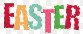 Transparent Text Easter Picture - Easter Clip Art PNG