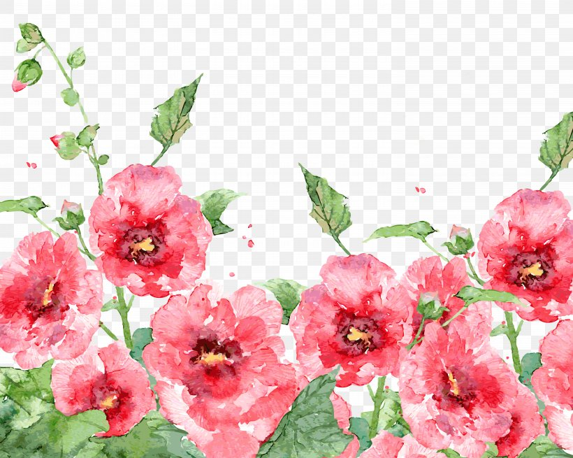 Watercolor Painting Watercolour Flowers Bird-and-flower Painting, PNG, 5906x4724px, Watercolour Flowers, Annual Plant, Bird And Flower Painting, Blossom, Chinese Painting Download Free