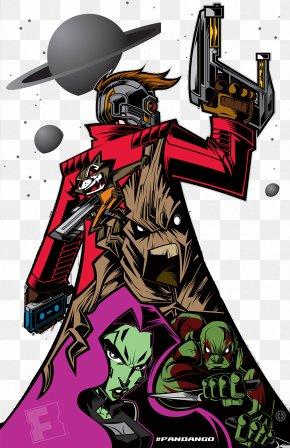 Skeleton Gun - Cartoon Groot Comics Illustration PNG