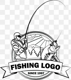 Fishing Old Man - Logo Fishing Fish Hook Angling PNG