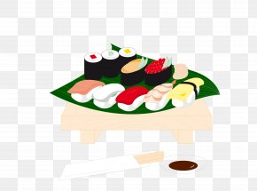 Vector Color Cartoon Japanese Cuisine Japanese Element - Sushi Japanese Cuisine PNG