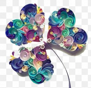 Painting Paper Clover - Paper Craft Quilling Art Papercutting PNG
