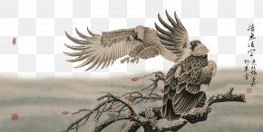 Ink Painting Eagle - U5de5u7b14u9e70u6280u6cd5 Ink Wash Painting PNG
